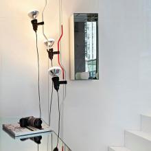 Flos - Parentesi D c/dimmer lampada a sospensione colori : nero-bianco-rosso-nickel.