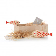 Vitra - Wooden Dolls Mother fish and child.