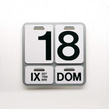 Danese Milano - DE3064A23 Formosa calendario perpetuo alluminio naturale lettere nere