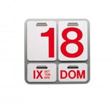 Danese Milano - DE3064A24 Formosa calendario perpetuo alluminio naturale lettere rosse