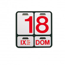 Danese Milano - DE3064A22 Formosa calendario perpetuo nero lettere rosse.