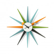 Vitra - Sunburst clock orologio multicolor.