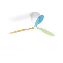 Luceplan - Blow ventilatore con luce e pale multicolor + telecomando.