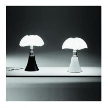 Martinelli Luce - Lampada da tavolo Pipistrello bianco, testa di moro, nero lucido, rosso porpora o alluminio satinato.